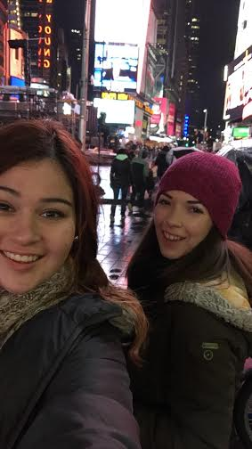 Essential selfies because Times Square